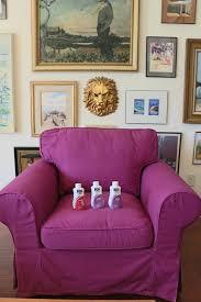 purple sofa slipcover custom dyed slipcovers for ikea ektorp 2 colors ikea hackers