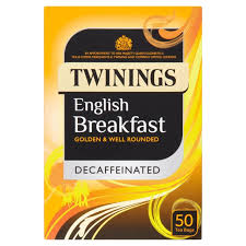 twinings decaffeinated breakfast tea bags 50 per pack from
