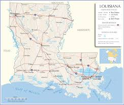 50 States Map With Capitals by Louisiana Map Louisiana State Map Louisiana Road Map Map Of Louisiana