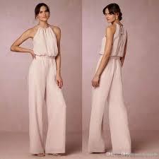 cheap jumpsuits for cheap blush pink chiffon jumpsuits bridesmaid dresses 2017 halter