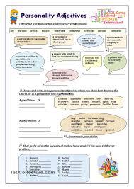 personality adjectives worksheet free esl printable worksheets