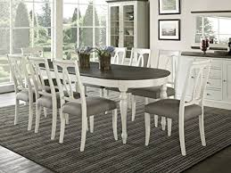 extension dining table and chairs amazon com coastlink vegas 9 piece oval extension dining table set
