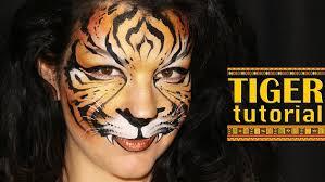 tiger u2014 makeup u0026 face painting tutorial youtube