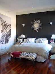 accent wall for small bedroom wall mounted white wooden frame