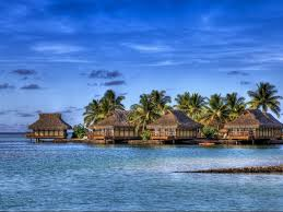Maldives Cottages On Water by Beach Summer Island Maldives Sea Palms Water Cottages Beach