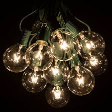 Led Patio Lights String by Amazon Com 25 Foot G50 Patio Globe String Lights With 2 Inch