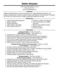 call center manager resume sample package handler resume sample