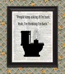 johnwick parody funny bathroomdecor sign wall art minimalist
