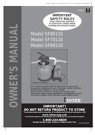 intex sf60110 2014 user manual 24 pages also for sf70110 2014