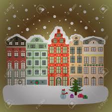 imagenes lindas naturaleza paisaje con naturaleza y casas ciudad de invierno con árboles