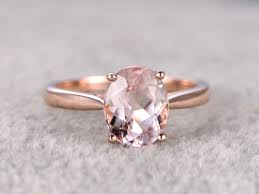 morganite ring gold 1 85 carat oval morganite engagement ring solitaire promise ring