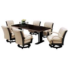 dining table with caster chairs swivel dining chairs with casters astounding great caster dining