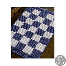 crochet checkerboard rug