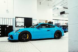 miami blue porsche gt3 rs the porsche exchange new 2018 911 gt3 has arrived at the porsche