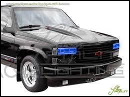 led lights for pickup trucks oracle 88 98 gmc sierra led halo rings headlights bulbs