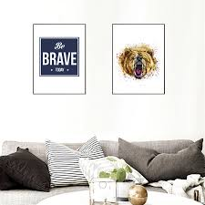 Nordic Home Compare Prices On Brave Painting Online Shopping Buy Low Price