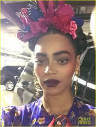 beyonce stuns as frida kahlo for second halloween costume bow