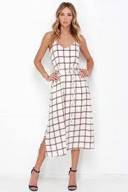 dress plaid dress midi dress 61 00