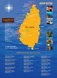 St Lucia Island Map St Lucia Dive Sites Ti Kaye Resort U0026 Spa Ti Kaye Resort U0026 Spa