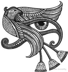 eye of horus style print stickers by inverarity