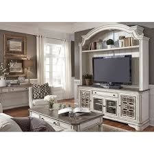 the magnolia manor tv stand with hutch is now in stock at afw afw