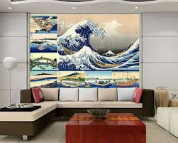 wall26 com art prints framed art canvas prints greeting wall26 peel and stick wallpapaer japanese style paintings collage by hokusai removable large wall mural creative wall decal 100x144 inches