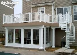 under deck rooms and spiral deck stairs are two of the best design