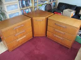 3 pieces of sakol bedroom furniture 2 drawers 1 corner unit