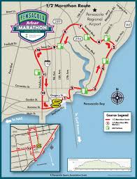 Map Pensacola Florida by Pensacola Marathon Race Maps Pensacola Sports