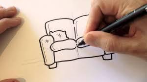 drawing a cartoon couch desenhando um sofá youtube