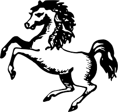 mustang horse drawing clipart rearing horse
