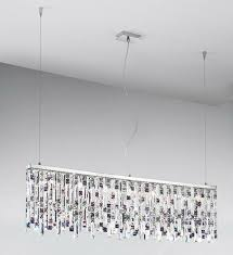 Prisma Lighting Kolarz Prisma Chrome 7 Light Linear Ceiling Pendant With Clear And
