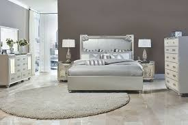 Michael Amini Bedroom by Aico 4 Pc Bel Air Park Upholstered Bedroom Set Usa Furniture