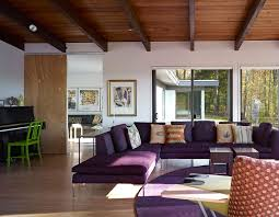 Living Room With Purple Sofa Great Looking Purple Design Ideas