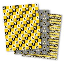 yellow wrapping paper collegiate wrap your gifts