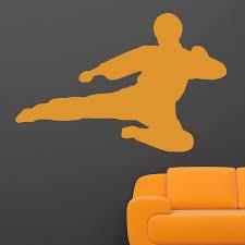 martial arts flying kick v2 karate kung fu wall sticker world