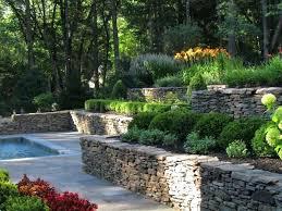 Backyard Terrace Ideas Terraced Landscape Design Ideas For A Traditional Backyard