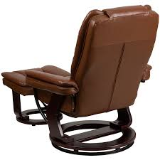 Vintage Recliner Chair Contemporary Brown Vintage Leather Recliner And Ottoman With