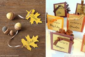 six last minute place card ideas for thanksgiving at home with