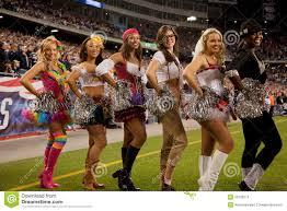 Cheer Halloween Costumes Patriots Cheerleaders Editorial Stock Image Image 26129374
