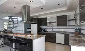 style cuisine photo de cuisine moderne bois et blanc meubles newsindo co