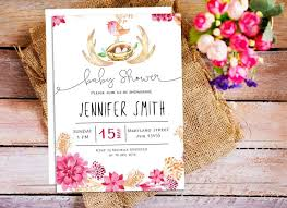 woodland baby shower invitations woodland bird baby shower invitation floral baby shower