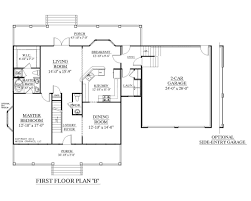 car garage house plans plan englewood floor traditional story
