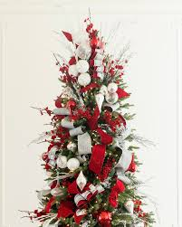 red white and sparkle christmas tree christmas tree decorating