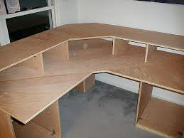 Diy L Desk Wooden L Desk Collection In Custom Wood Computer Plans Woodworking