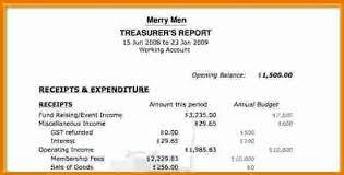Treasurer Spreadsheet 8 Treasurer S Report Template Expense Report