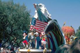 america on parade at yesterland