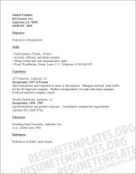 receptionist resume template resume template for receptionist resume and cover letter resume