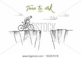 vector hand drawn time risk vector u0026 photo bigstock