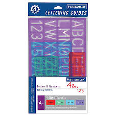 staedtler lettering guides pack of 4 by office depot u0026 officemax